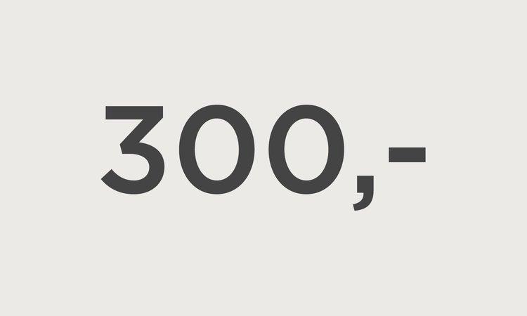 Kr 300,- til din konto